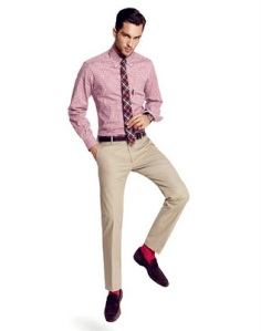 khaki-pants-with-brown-shoes-and-tie