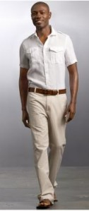 Outdoor_Beach_-_Informal_-_Banana_Republic_Linen_Military_Shirt