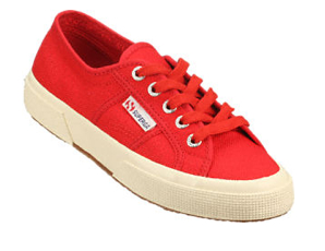 Red-Superga-Canvas-Sneakers